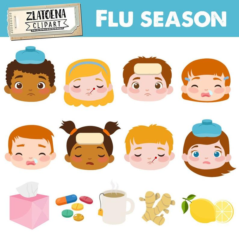 Flu clipart sick kid. Day ill clip art