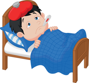 Flu clipart sick kid. Just a cold or