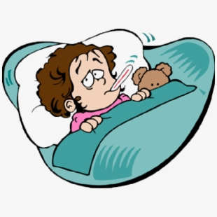 Flu clipart sick patient. Student at home png