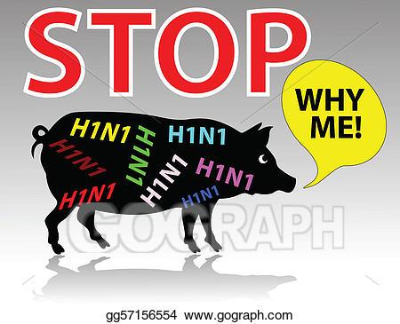 Flu clipart swine flu. Vector why me illustration