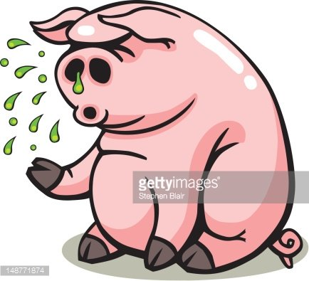 Flu clipart swine flu. Sick pig premium clipartlogo