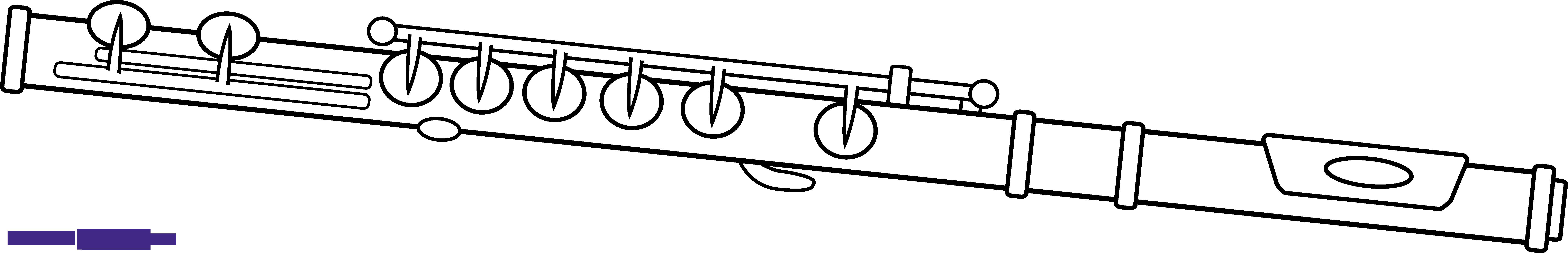 Flute clipart. Line art sweet clip