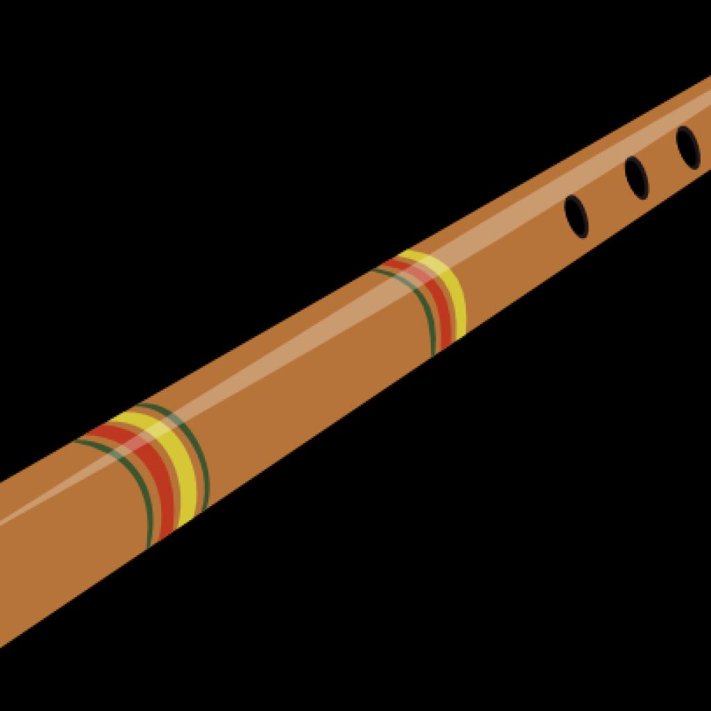 Clip art illustration image. Flute clipart bamboo flute