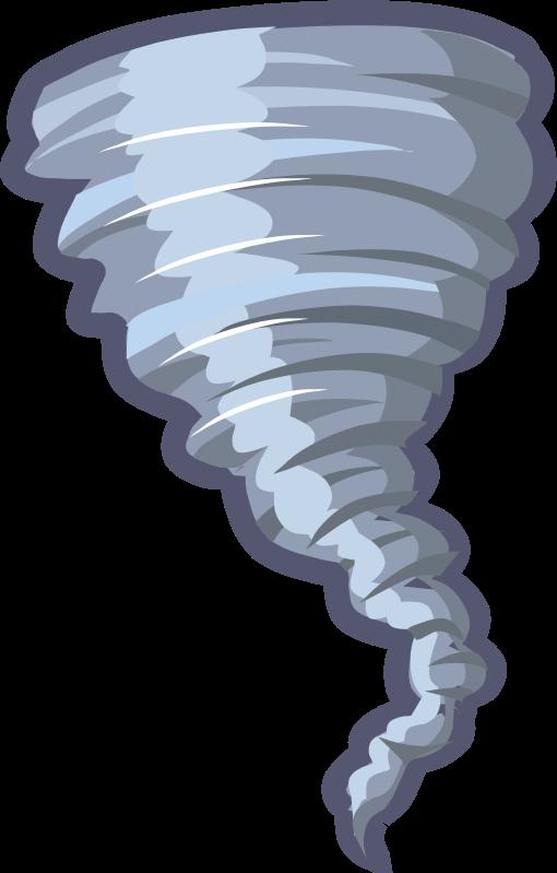Animated cliparts suggest vectors. Hurricane clipart tornado