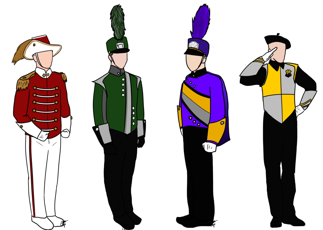 Flute clipart concert band. Marching uniforms by bandling