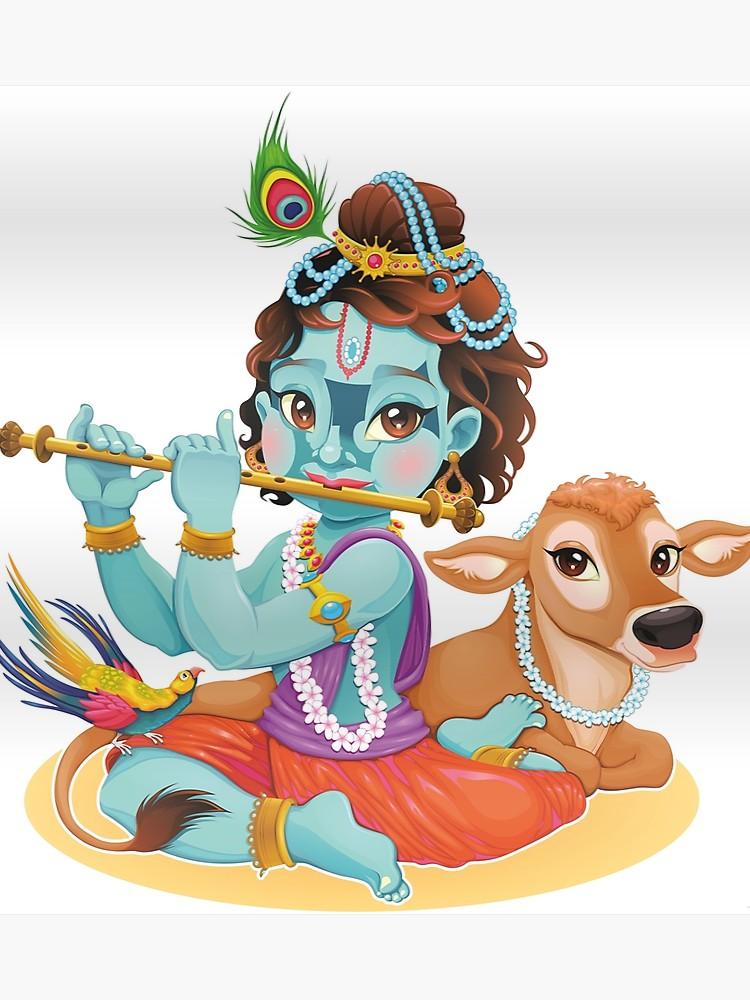 Flute clipart little krishna. Lord playing i hindu