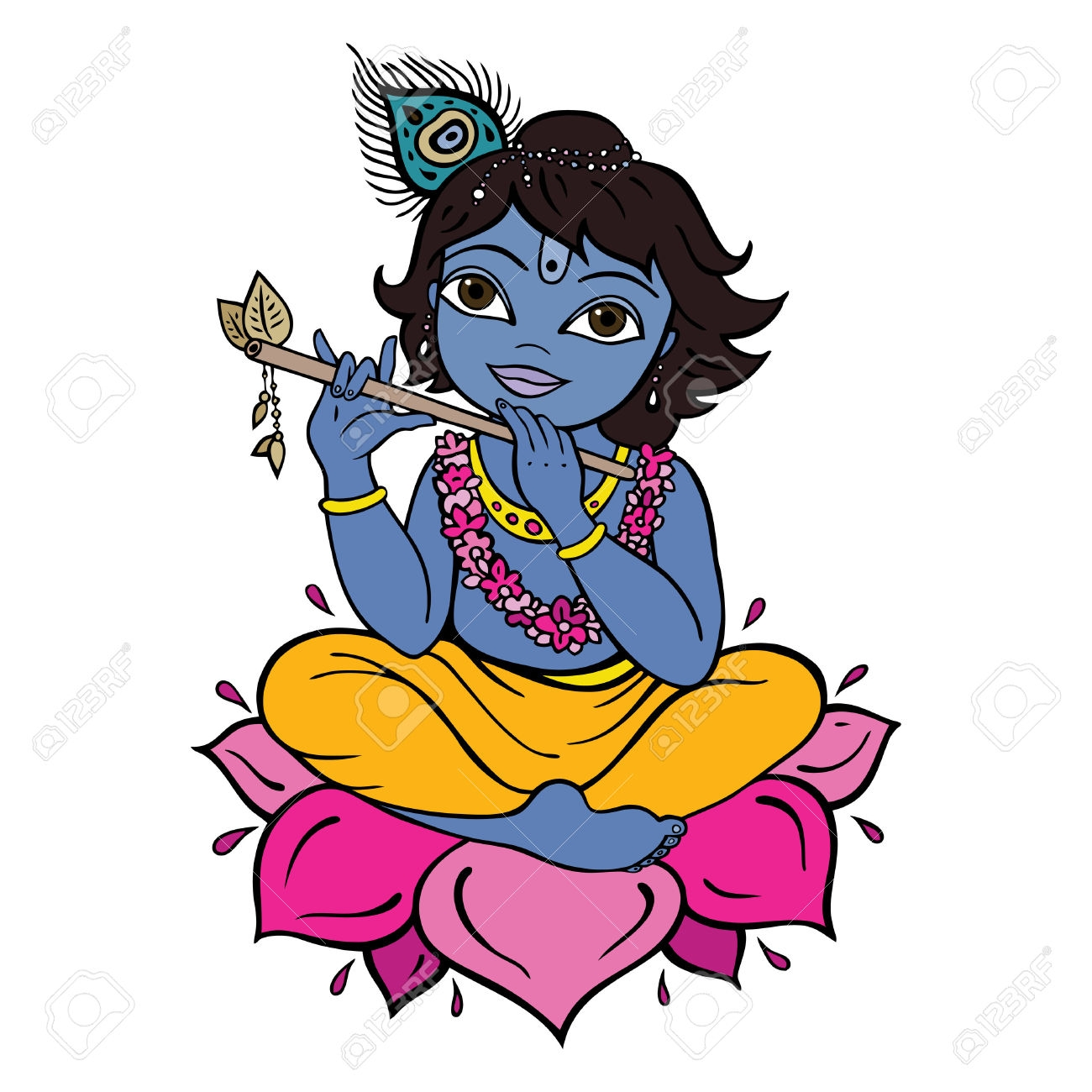 Flute clipart lord krishna. Collection of free download