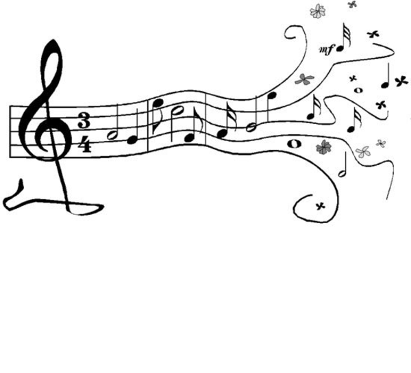 Flute clipart music note. Stencils to print free