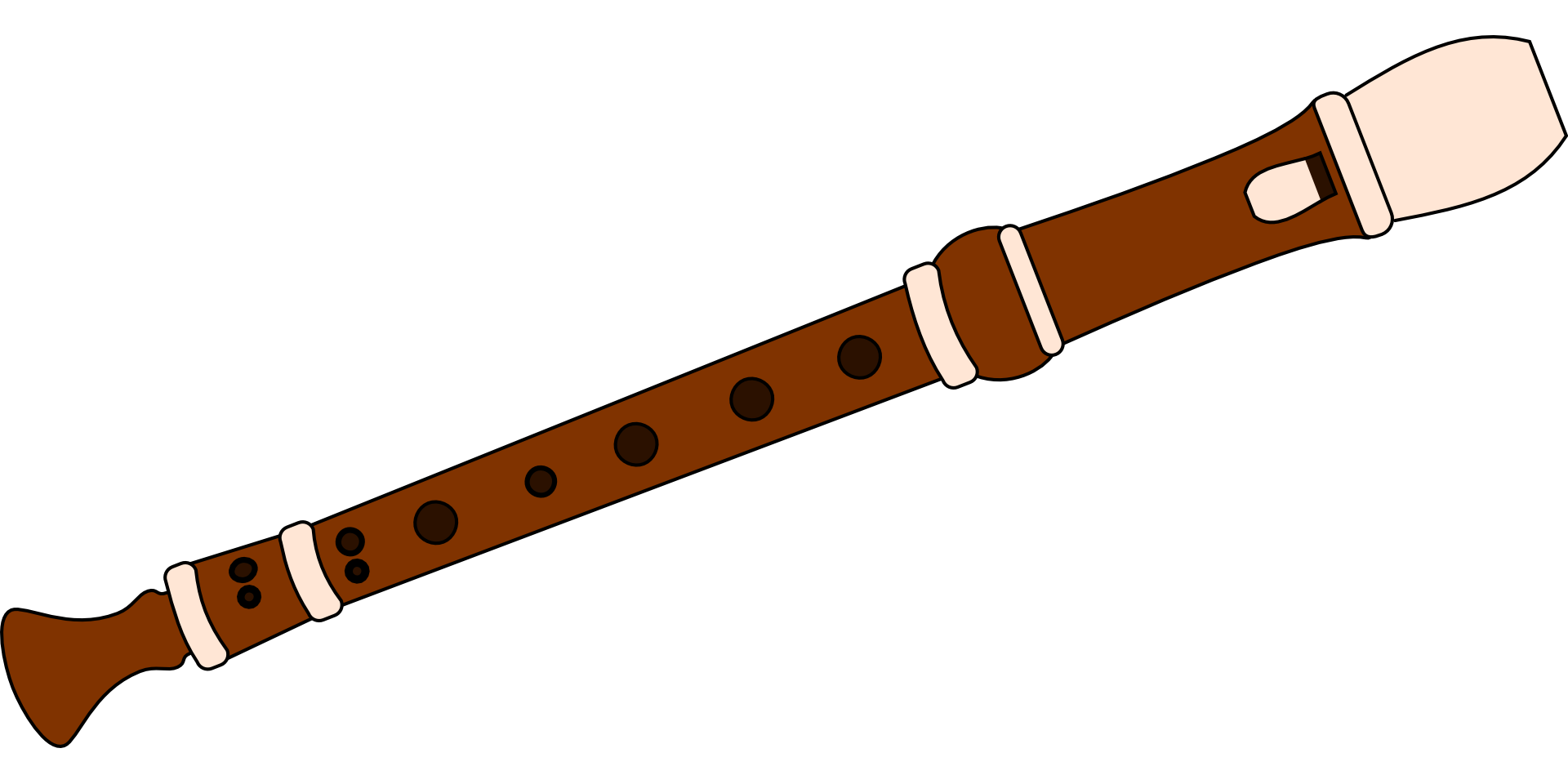 Flutes clipart clip art. Recorder musical instrument flute
