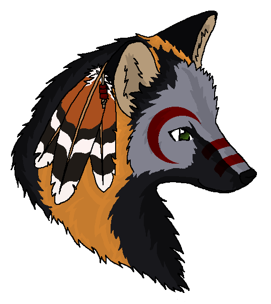 Cross fox by caliwings. Flute clipart native american flute