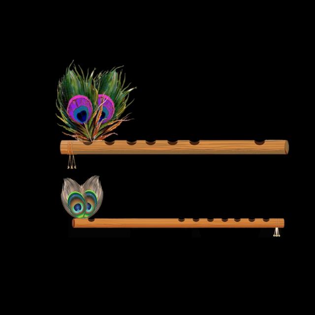 Shri flute transparent png. Flutes clipart shree krishna