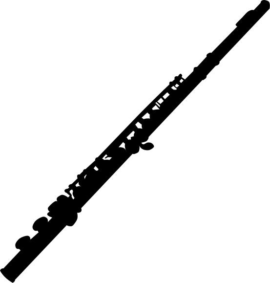 Flute music instrument . Flutes clipart silhouette