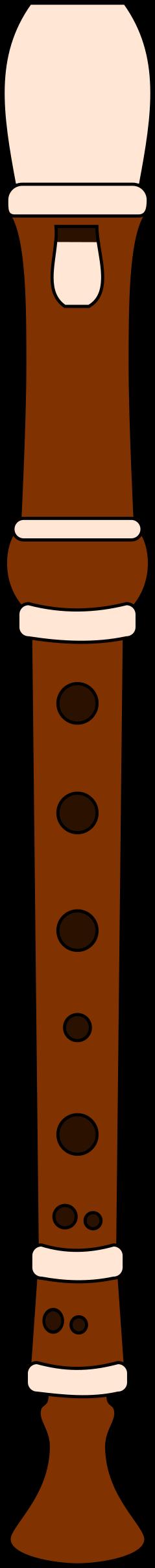 Recorder big image png. Flutes clipart wood