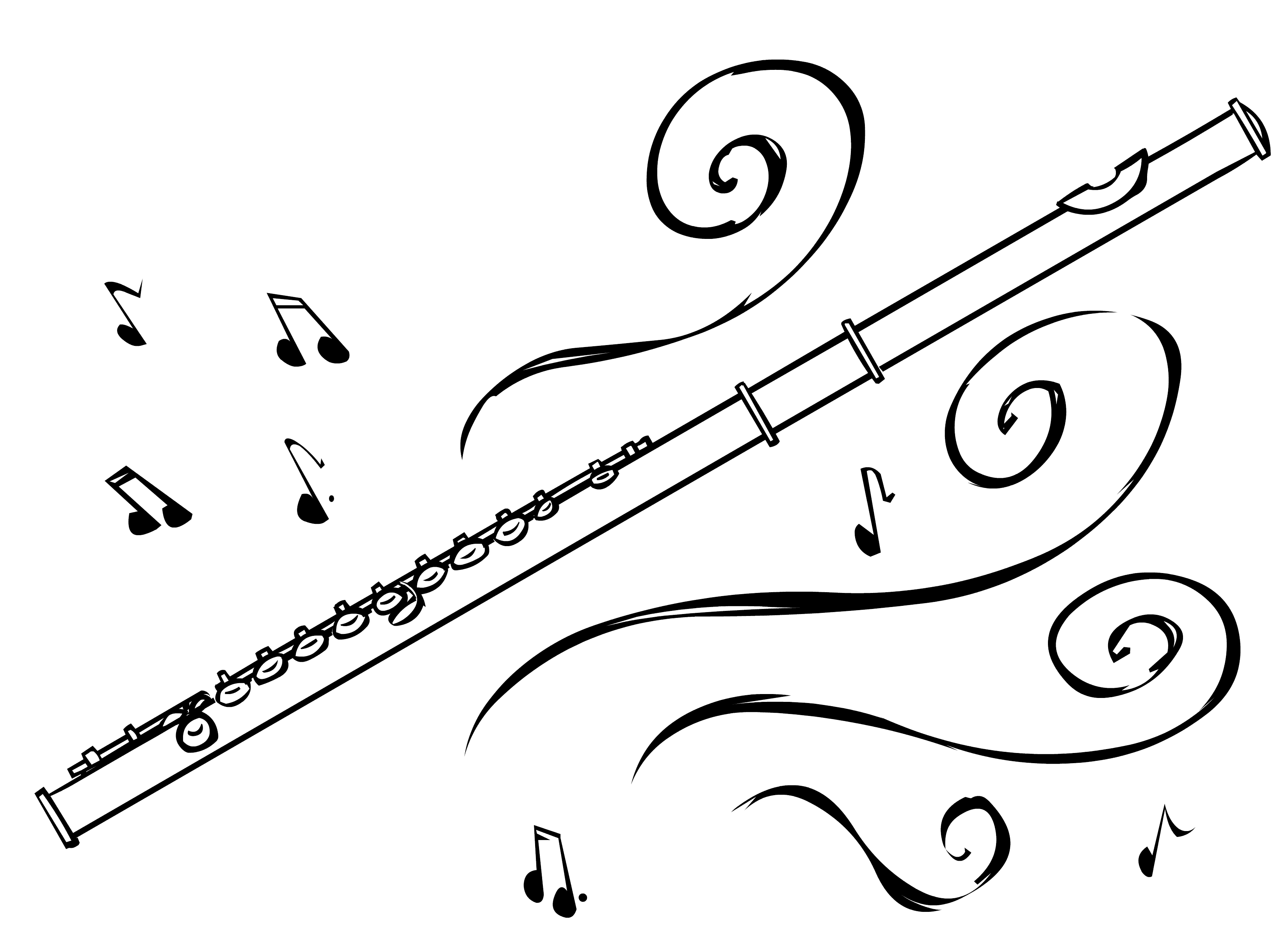 Flutes clipart. Unique flute gallery digital