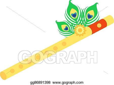 Flutes clipart krishna. Clip art vector flute