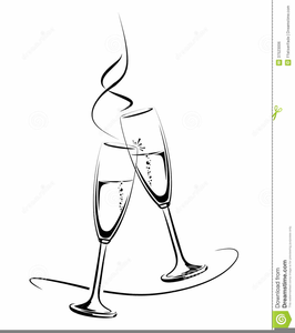 Flutes clipart line art. Free champagne images at