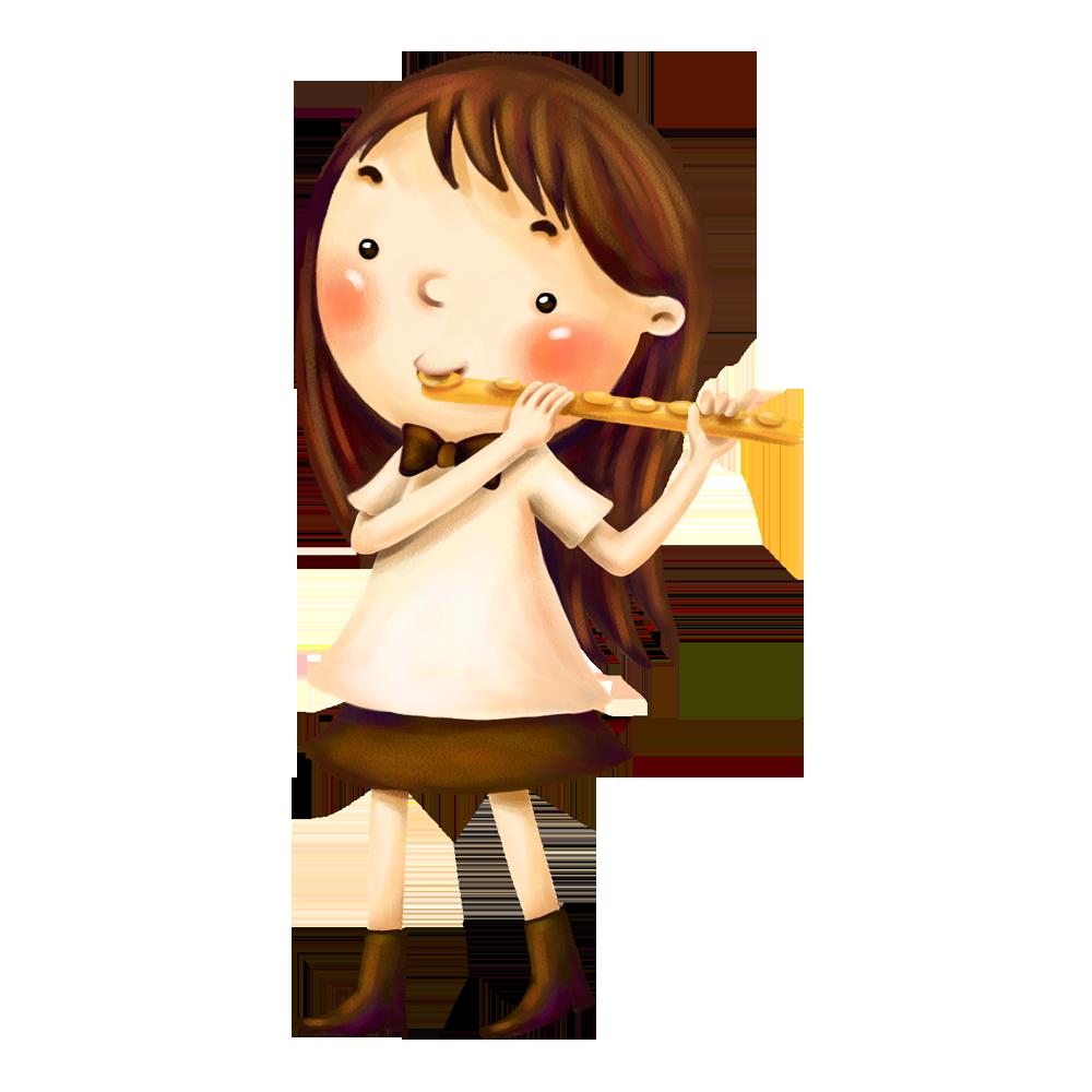 Flute musical instrument child. Flutes clipart musician