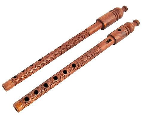 Carved music . Flutes clipart wooden flute
