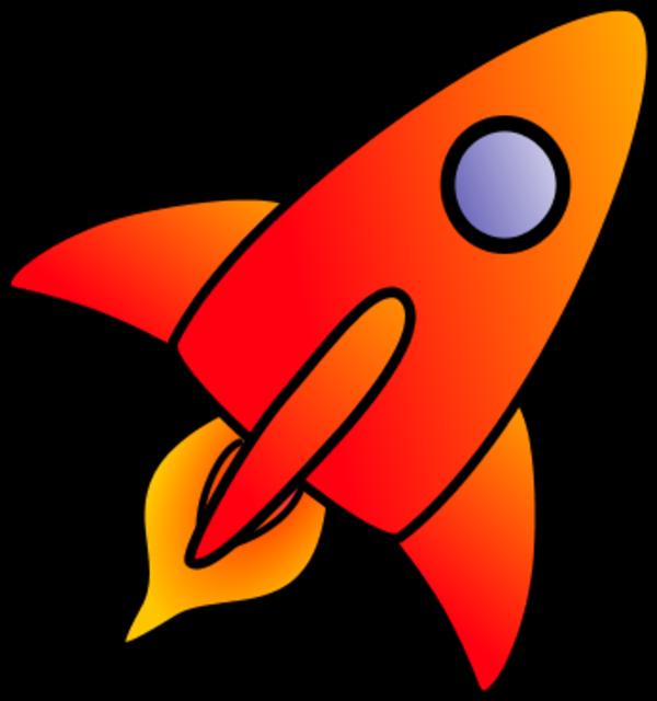 Fly clipart comic. Flying rocket cartoon