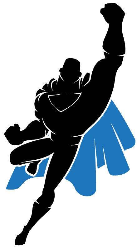 superheroes clipart flying