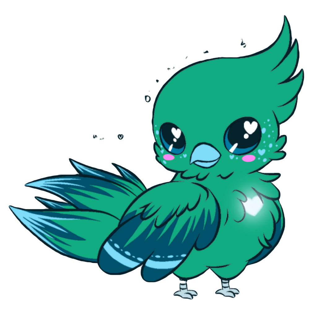 Fly clipart kawaii. Parrot cute blue bird