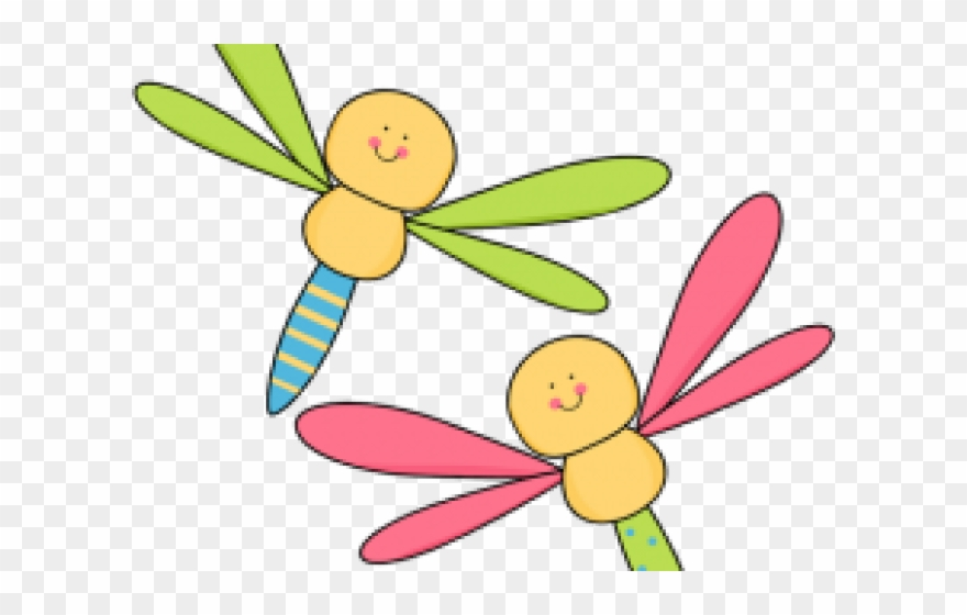 Transparent dragonfly png . Fly clipart two