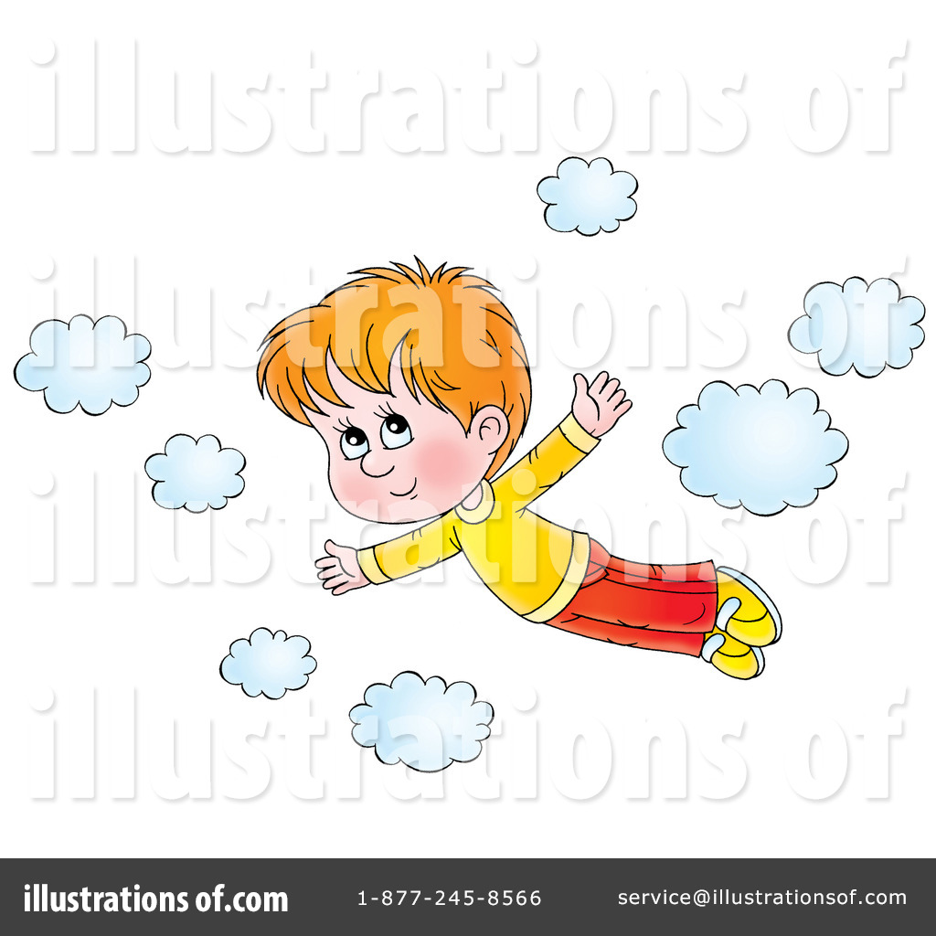 Flying illustration by alex. Fly clipart kid