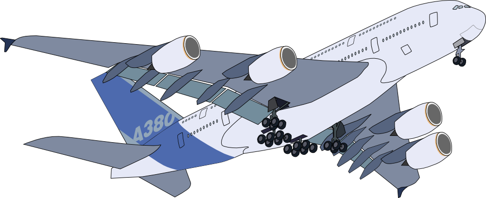 Onlinelabels clip art a. Flying clipart a380 airbus