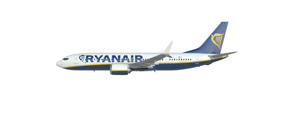 Flying clipart a380 airbus. Boeing max ryanair transparent