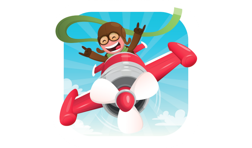 Flying clipart airplane pilot.