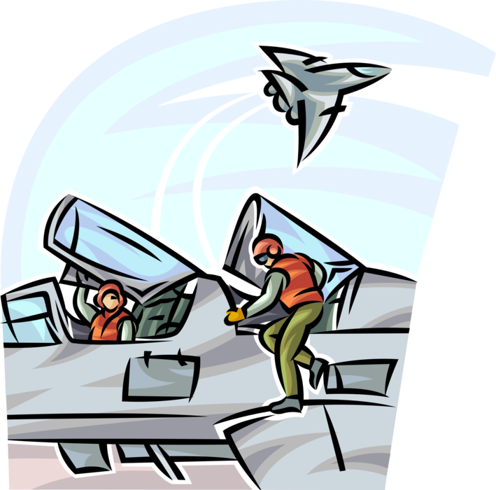 Flight deck crew prepare. Flying clipart airplane pilot