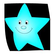 Star light blue. Flying clipart cartoon