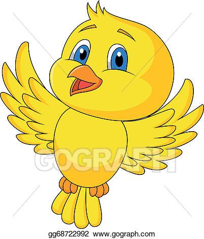 Flying clipart cartoon. Vector stock cute bird