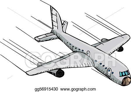Flying clipart fast plane. Clip art vector stock