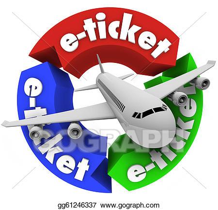 Tickets clipart e ticket. Clip art airplane travel