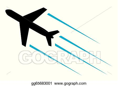 Vector stock flying airplane. Plane clipart flight