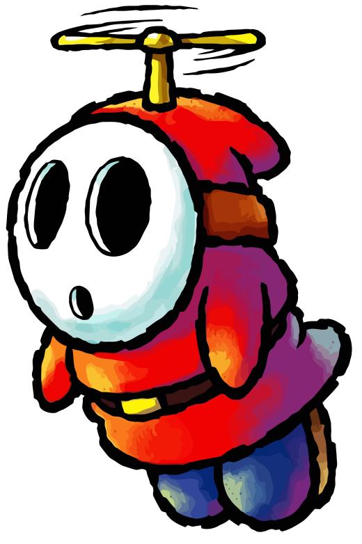 Fly guy yoshi wiki. Shy clipart shy man