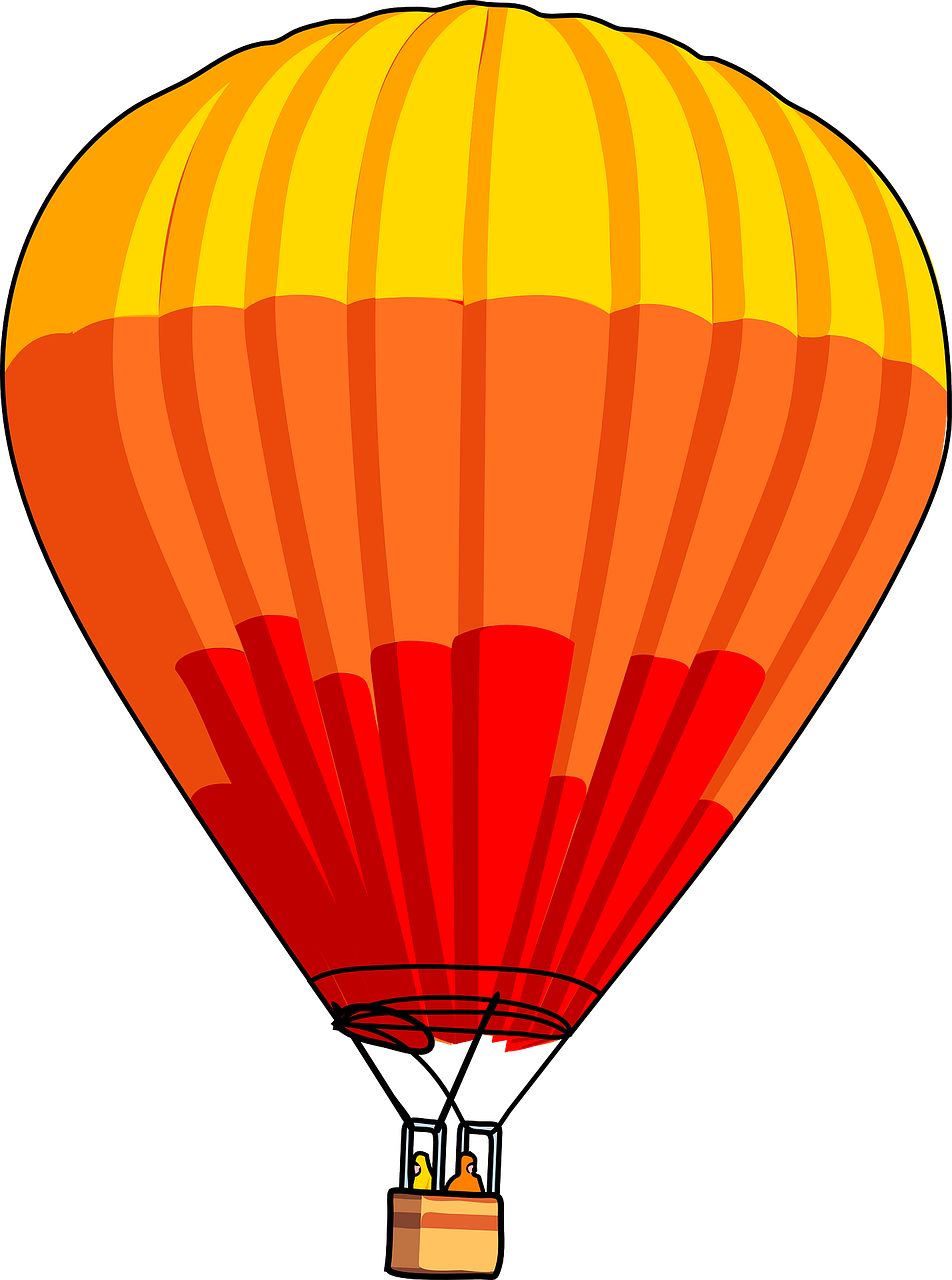 Balloon hot transportation fly. Gas clipart air ballon