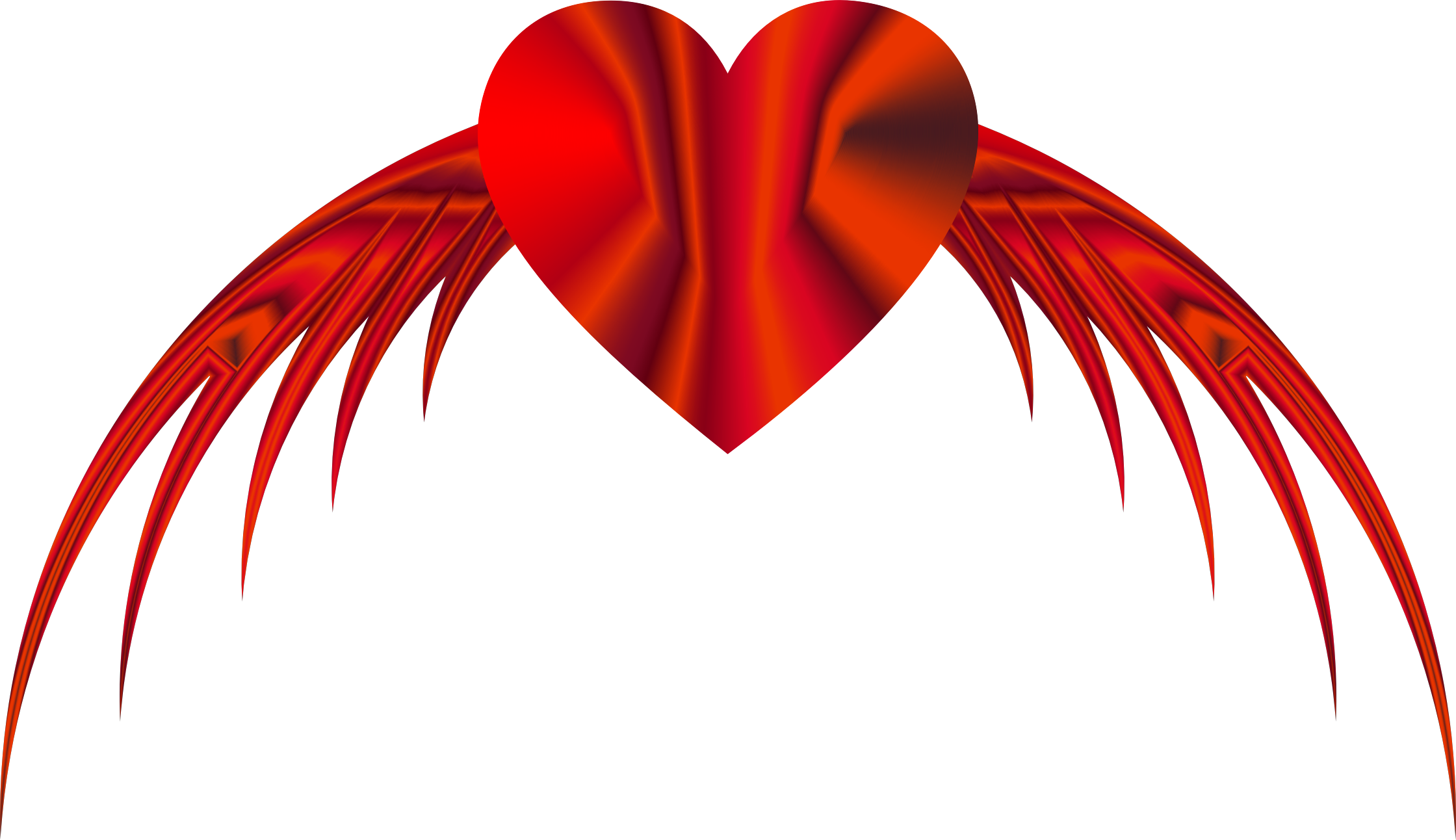 Flying heart png clip. Poetry clipart literature