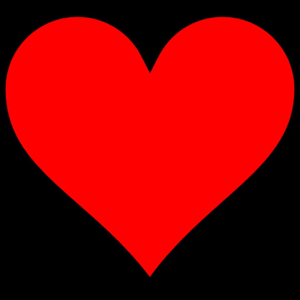 Hearts clipart dove. Plain red heart no