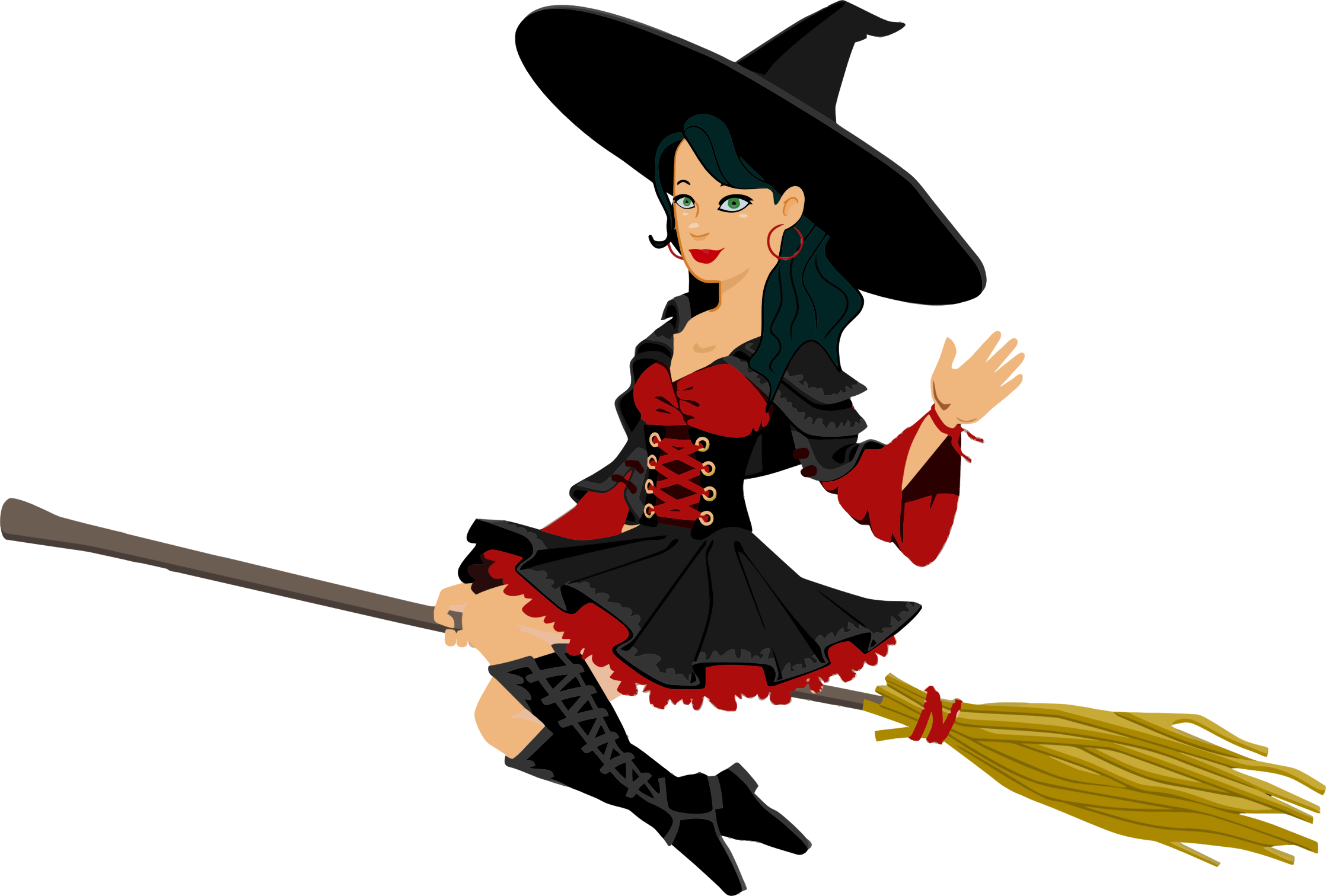 Big image png. Witch clipart flying witch