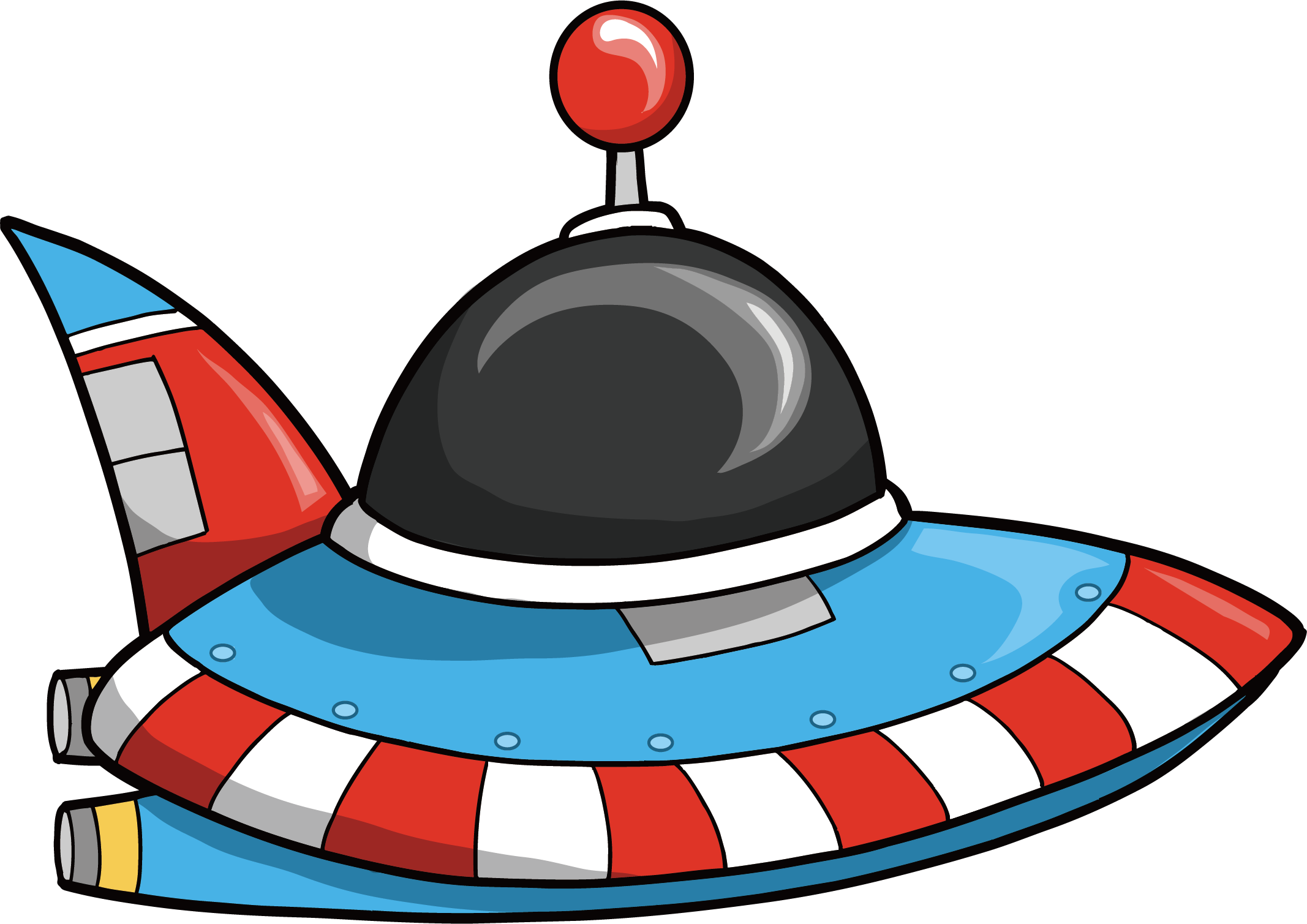Spaceship clipart small spaceship. Outer space flying saucer