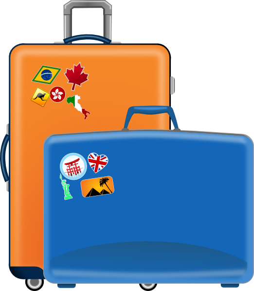 Luggage clip art at. Flying clipart vaction
