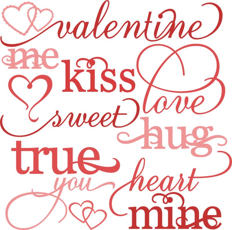 Word . Valentine clipart cute