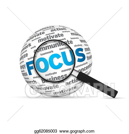 Focus clipart. Stock illustration drawing gg