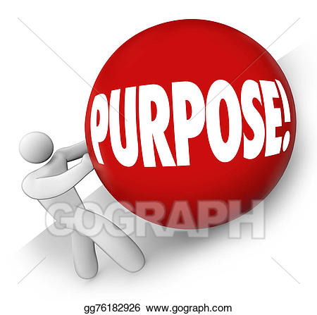 Missions clipart goal objective. Stock illustration purpose ball