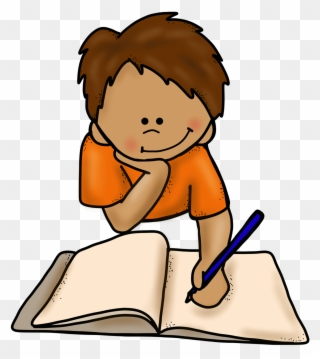 Write png download . Focus clipart girl writer