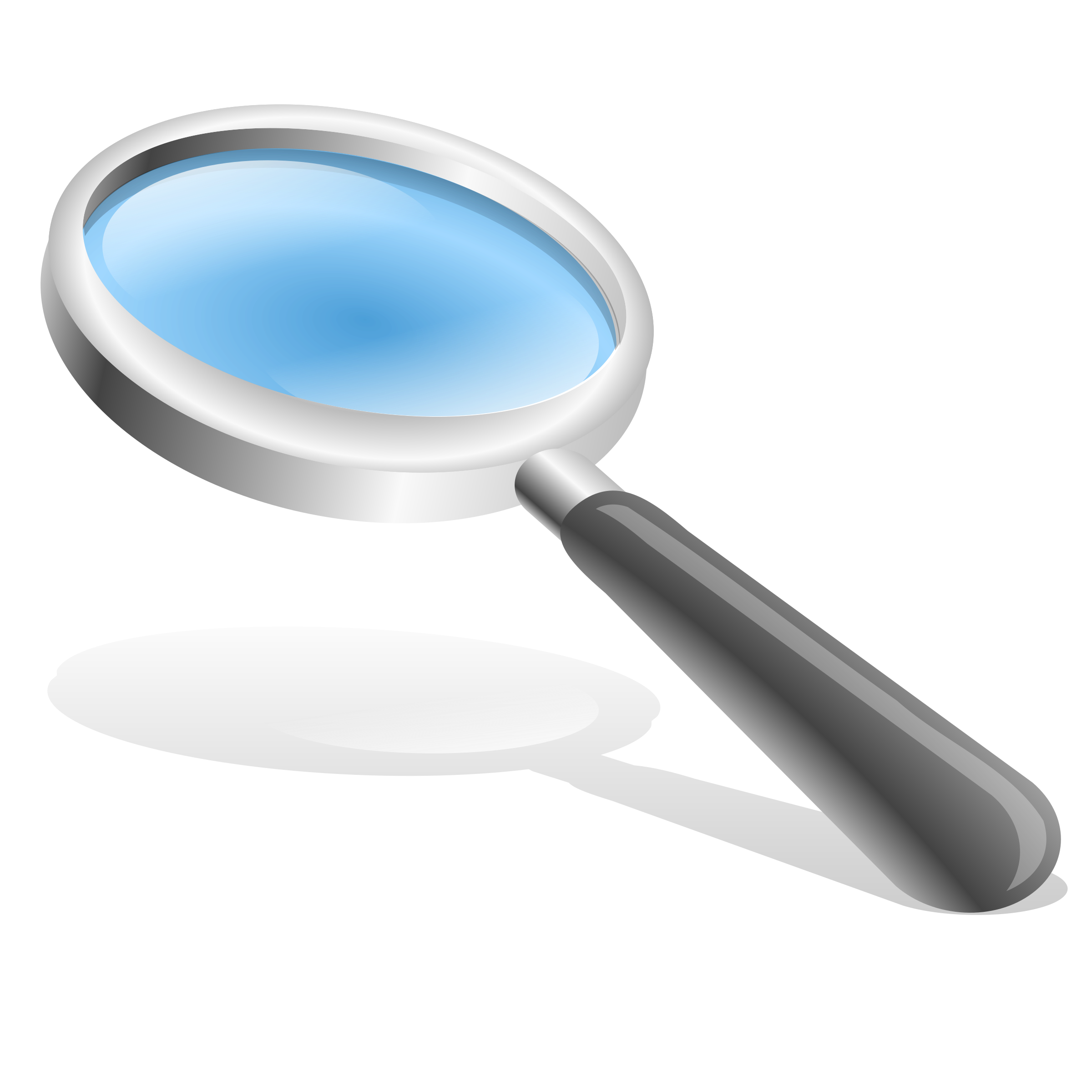 Magnifying glass big image. Focus clipart magnifier