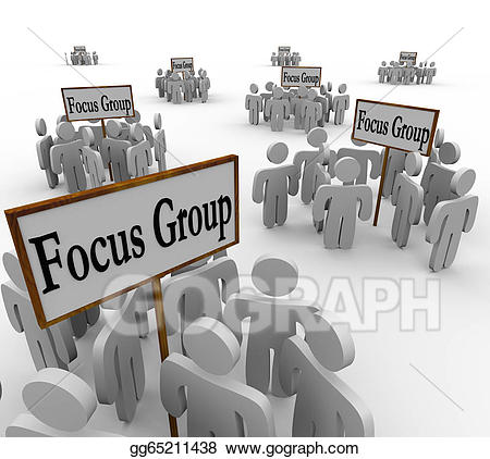 Stock illustration many groups. Focus clipart population target