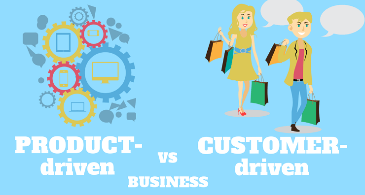 Product driven vs customer. Focus clipart self identity